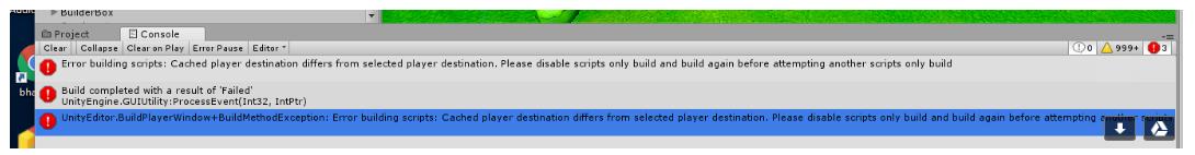 Scripts Only build fails - Unity Forum