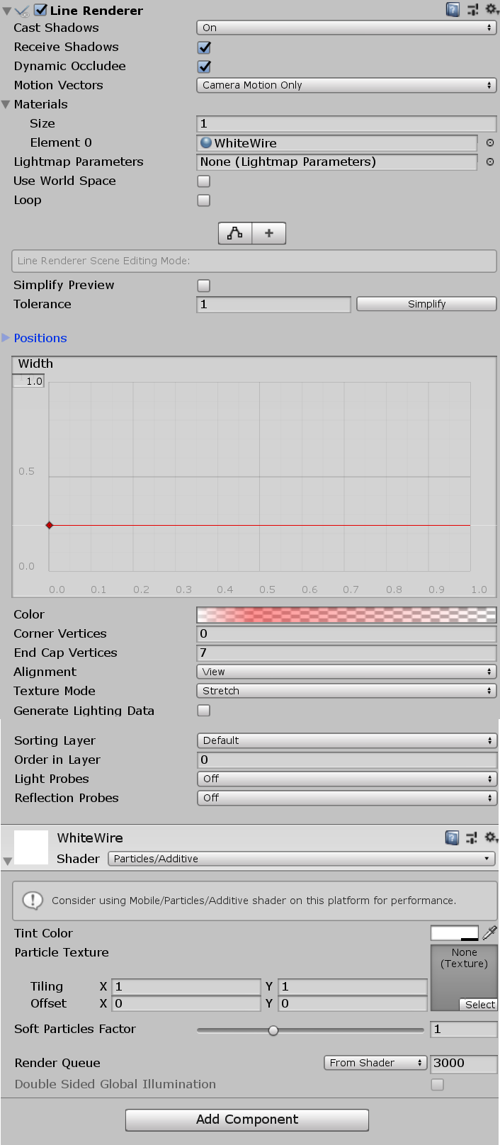 LineRenderer gradient not working properly - Unity Forum