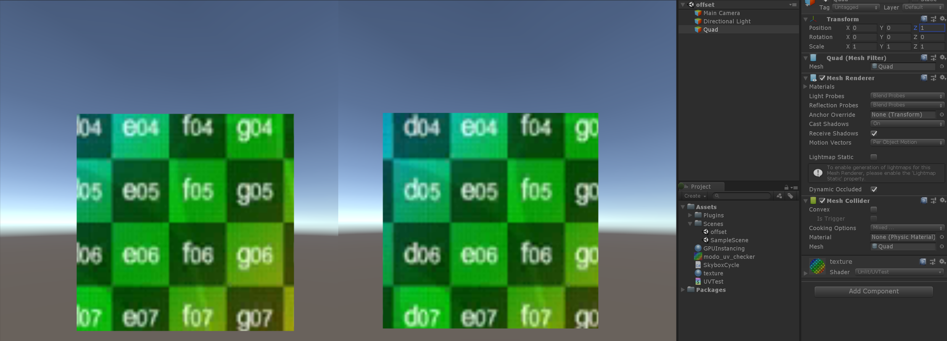 The result of ComputeScreenPos is different between VR's lefteye