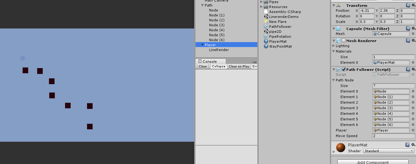 Move GameObject along a given path - Unity Forum