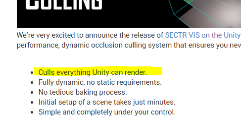 RELEASED] SECTR VIS: Dynamic Occlusion Culling | Page 7 - Unity Forum