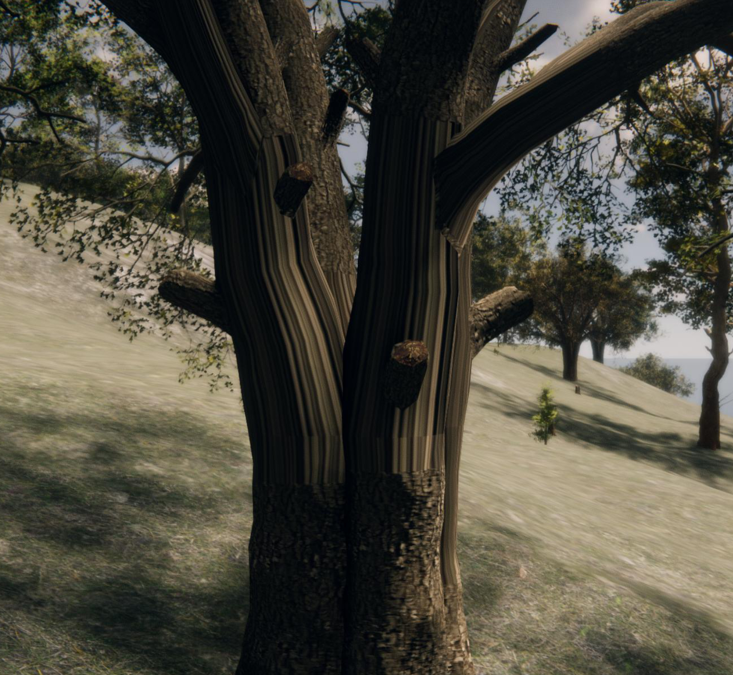 Bug: Stretched textures on Speedtree pack from Unity Asset store