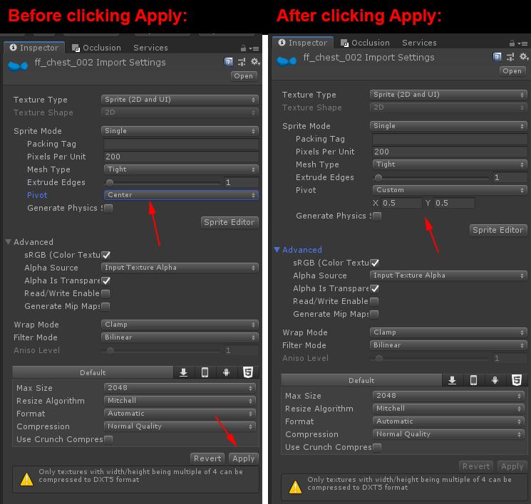2D Sprite import Center point no longer holds - Unity Forum