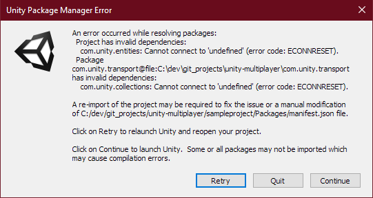 Cannot connect to Package Manager through Proxy - Unity Forum