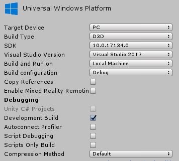 Cannot build 2018 2 6f1 App from Visual Studio 2017 - Unity