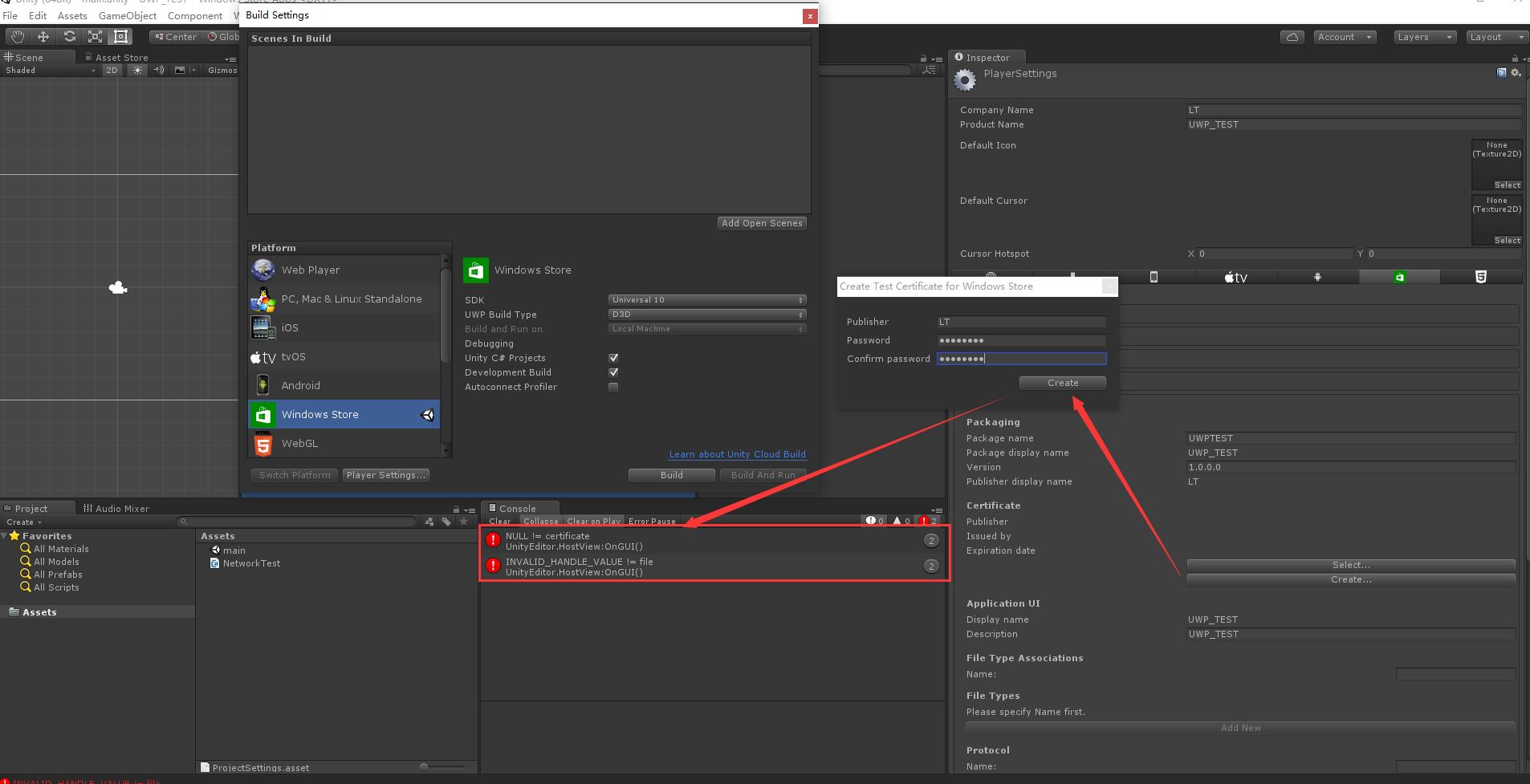 Cannot create wsatestcertificatex file and appear error as unity534f1 vs2015 enterprice update1 windows 10 professional windows10 sdk 10010586212 1betcityfo Gallery