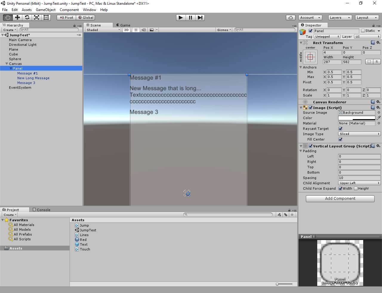 Problems handling Scroll View for a simple chat - Unity Forum