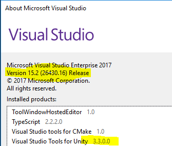 Visual Studio 2017 Tools for Unity, where to find a download