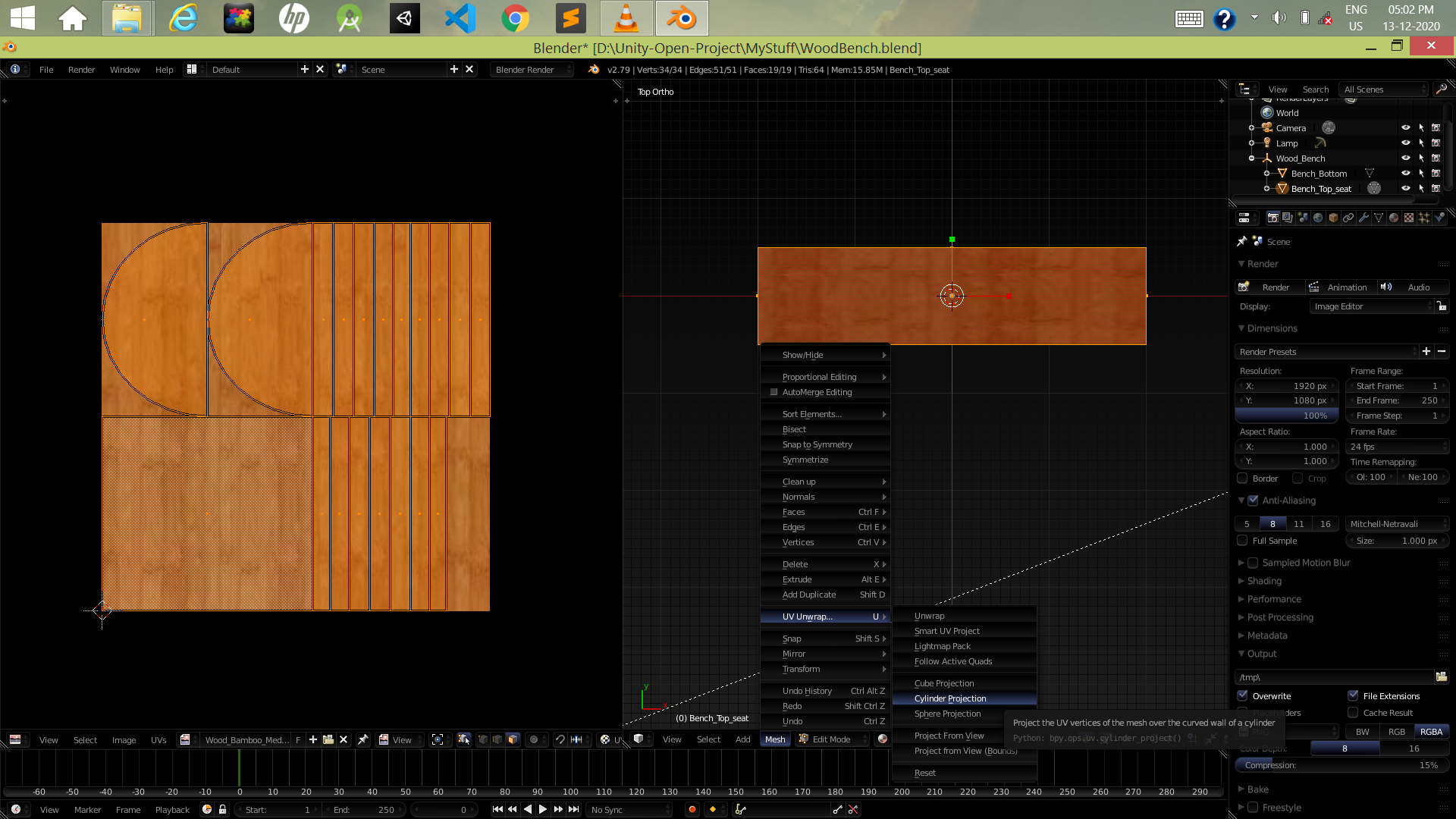Wood_bench_UV_doing_Cylinderical_Projection.png