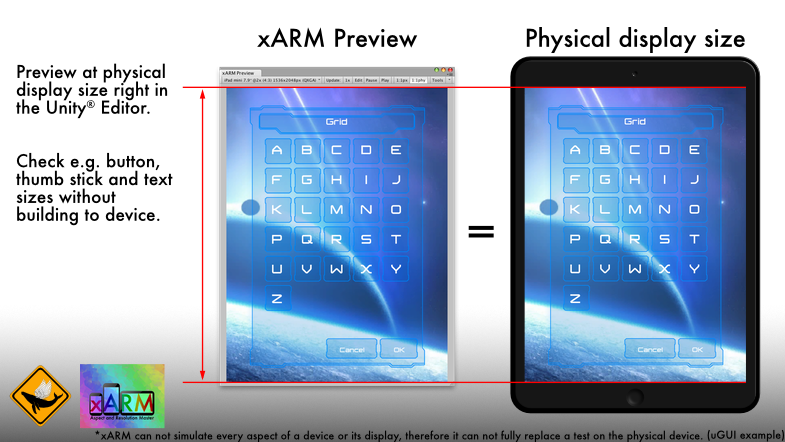 xARM Preview vs Device.png