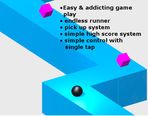 ZigZag Endless Runner-Complete Game Template